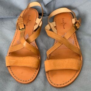 Cole Haan Tan Leather Strappy Sandals Size 8